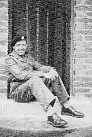 Bill as young soldier seated